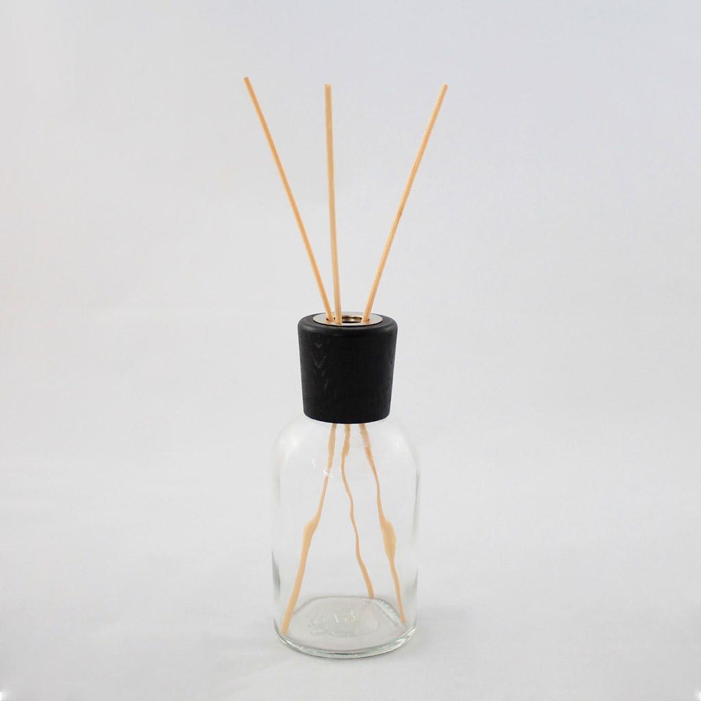 Tappo in legno cilindro nero con bastoncini