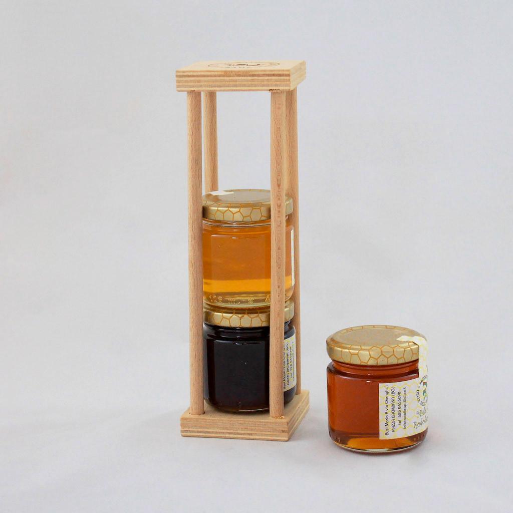 Portavasetti in legno - Torneria Todeshini